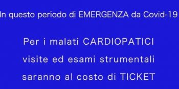EMERGENZA COVID 19 e PAZIENTI CARDIOPATICI